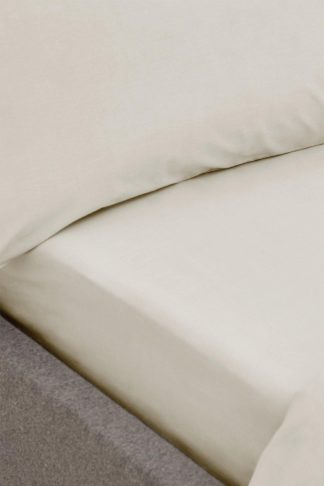 An Image of 200tc Organic Cotton King Fitted Sheet