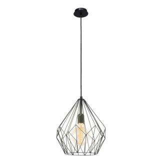 An Image of Eglo Carlton Pendant Light - Black
