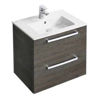 An Image of Ideal Standard Tempo 60cm Vanity Unit Pack - Lava Grey