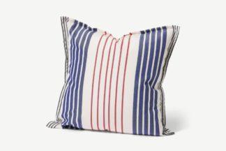 An Image of Artiga Outdoor Cushion, 40 x 40cm, Blue & Red Stripe
