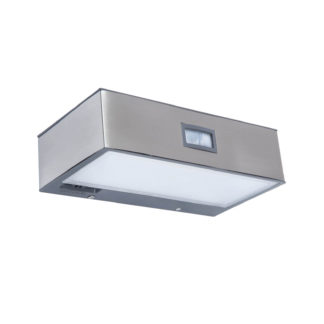 An Image of Lutec Brick Solar LED Outdoor Wall Light With PIR Motion Sensor