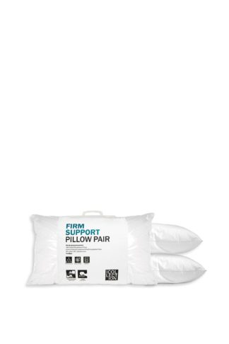 An Image of Firm Support Polyester Pillow Pair