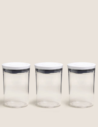 An Image of M&S OXO Set of 3 Storage Jars