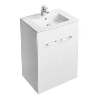 An Image of Ideal Standard Tempo 60cm Freestanding Vanity Unit Pack - Gloss White