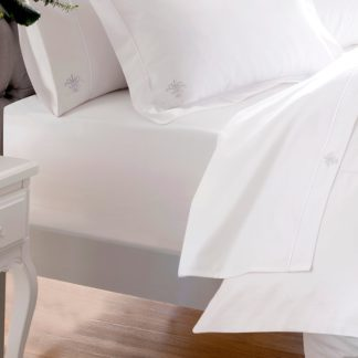 An Image of Dorma Egyptian Cotton 1000 Thread Count Fitted Sheet White
