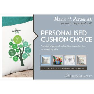An Image of Personalised Cushion Choice For One Gift Experience
