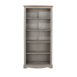 An Image of Corona Grey Tall Bookcase Grey