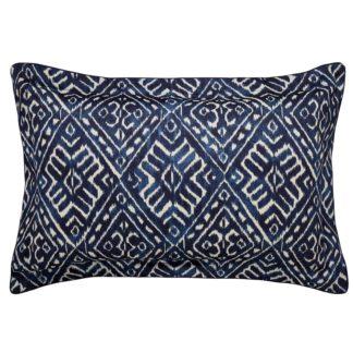 An Image of Cadenza Pillow Case Oxford - Indigo