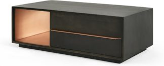 An Image of Anderson Coffee Table, Mocha Mango Wood & Copper