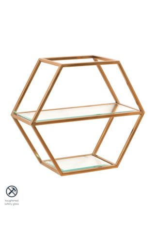 An Image of Alveare Brass Shelf