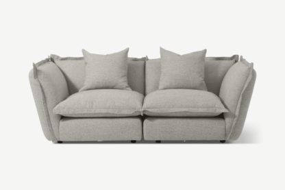An Image of Fernsby 2 Seater Sofa, Silver Recycled Weave