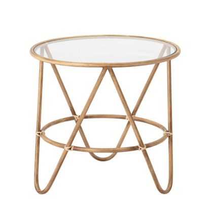 An Image of Metal Side Table, Gold