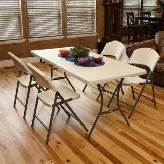 An Image of Lifetime Seasonal Folding Party Trestle Table - 1.83m / 6ft