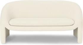 An Image of Shona 2 Seater Sofa, Whitewash Boucle