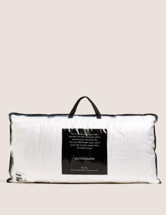 An Image of M&S Autograph Touch of Silk Medium Kingsize Pillow