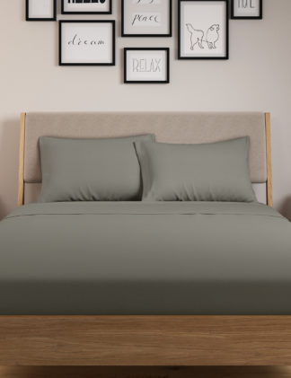 An Image of M&S 2 Pack Body Sensor™ Pure Cotton Pillowcases