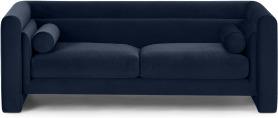 An Image of Mathilde Large 2.5 Seater Sofa, Dark Navy Velvet