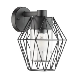 An Image of EGLO Canove Caged Exterior Wall Light