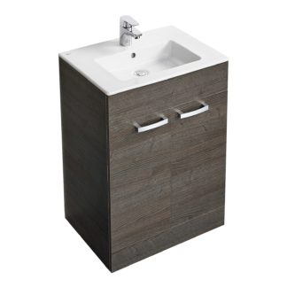 An Image of Ideal Standard Tempo 60cm Freestanding Vanity Unit Pack - Lava Grey