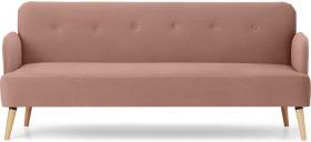 An Image of Elvi Click Clack Sofa Bed, Vintage Pink Velvet