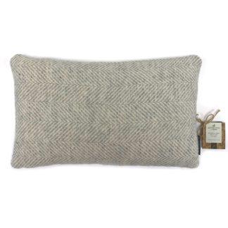 An Image of Country Living Wool Herringbone Cushion - 30x50cm - Grey