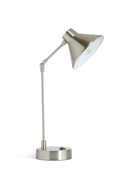 An Image of Habitat Bobby Desk Lamp - Steel