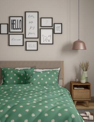 An Image of M&S 2 Pack Cotton Mix Leaf Bedding Sets