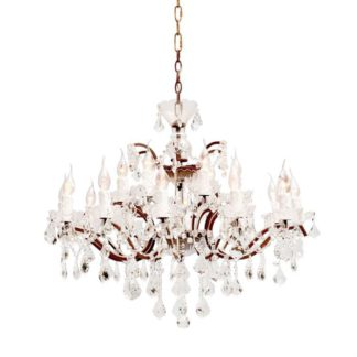 An Image of Timothy Oulton Crystal Medium Chandelier, Crystal