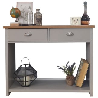 An Image of Lancaster Console Hall Table Grey