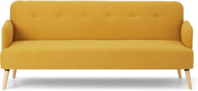 An Image of Elvi Click Clack Sofa Bed, Butter Yellow