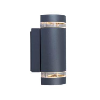 An Image of Lutec Focus Outdoor Wall Light In Dark Grey