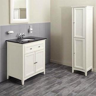 An Image of Bathstore Savoy 790mm Granite Top Floorstanding Vanity Unit