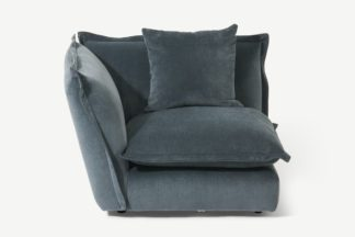 An Image of Fernsby, Corner Modular Chair, Atlantic, Chenille Fabric