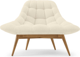 An Image of Kolton Accent Armchair, Whitewash Boucle
