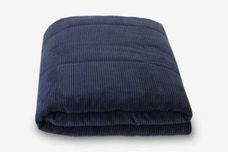 An Image of Selky Corduroy Bedspread, 125 x 225cm, Navy