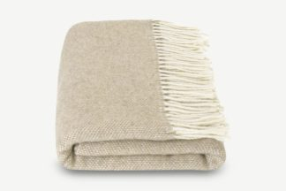 An Image of Burley Wool Throw, 125 x 170cm, Natural