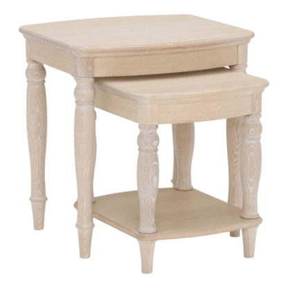 An Image of Charente Nest of Tables, Chalk Oak