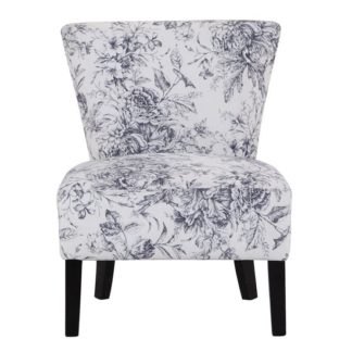 An Image of Austen Linen Lounge Chaise Chair In Floral