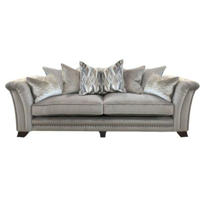 An Image of Dorsey Pillow Back 4 Seater Split Frame Sofa - Barker & Stonehouse