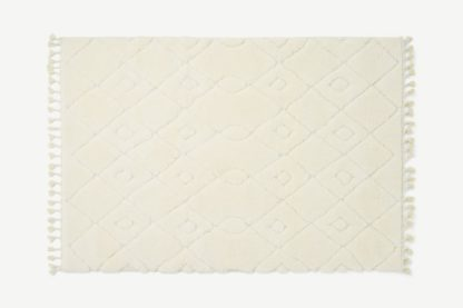 An Image of Kameli Patterned High Pile Berber Style Rug, X Large 200 x 290cm, Off-White