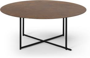 An Image of Morland Coffee Table, Oxidised Bronze