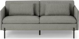 An Image of Zarina Large 2 Seater Sofa, Mole Grey Weave