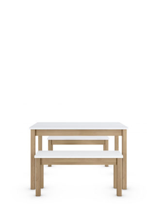 An Image of M&S Loft Dining Table with Benches