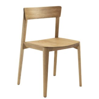 An Image of Riva 1920 Mia Wood Dining Chair, Oak
