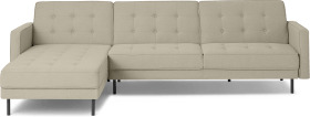 An Image of Rosslyn Left Hand Facing Chaise End Click Clack Sofa Bed, Sandstone