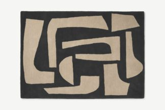 An Image of Lafant Hand-Tufted Wool Rug, Large 160 x 230cm, Charcoal