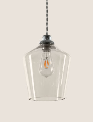 An Image of M&S Claudia Glass Easy Fit Ceiling Light