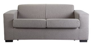 An Image of Argos Home Ava 2 Seater Fabric Sofa Bed - Light Grey