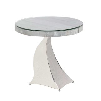 An Image of Caspian Promesse Reclaimed Wood Round Side Table