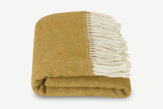 An Image of Burley Wool Throw, 125 x 170cm, Dark Mustard